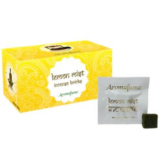 Aromafume Box of 18 Individually Wrapped Incense Bricks... LEMON MIST